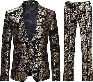 Men's Dress Suit Single-Breasted 2 Pieces Slim Fit 2 Buttons Suits
