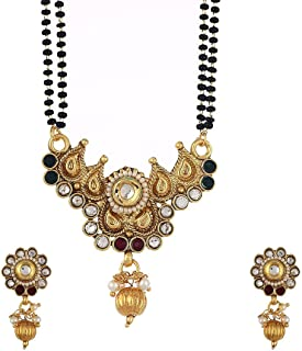 BANDISH Gold Plated Traditional Kalash Mangalsutra with Chain for Women