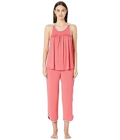 Kate Spade New York Evergreen Fashion Cropped Tank Pajama Set (Pin Dot) Women