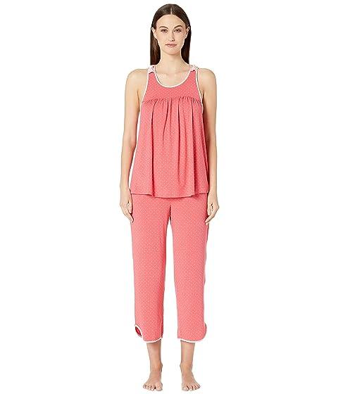 Kate Spade New York Evergreen Fashion Cropped Tank Pajama Set