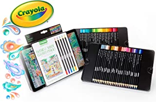 Crayola Signature Blend & Shade Coloured Pencils, 50 Assorted Colours, Professional Quality, Premium Embossed Storage Tin, Perfect for Detailed Illustrations or Shading and Blending Art Work!
