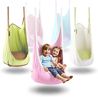HAPPY PIE PLAY&ADVENTURE Frog Folding Hanging Pod Swing Seat Indoor and Outdoor Hammock for Children to Adult (Pink)