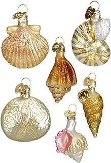 Old World Christmas Sea Shell 6pc. Ornament Set Standard