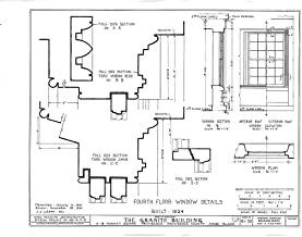 Historic Pictoric Structural Drawing HABS RI,4-PROV,33- (Sheet 17 of 20) - Granite Block, 6-18 Market Square, Providence, Providence County, RI 55in x 44in