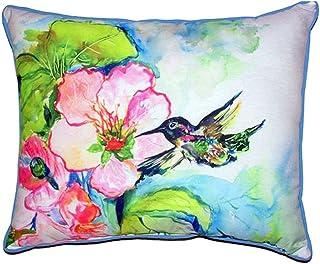 "Betsy Drake SN437 Hummingbird & Hibiscus Pillow, 11"" x14"""
