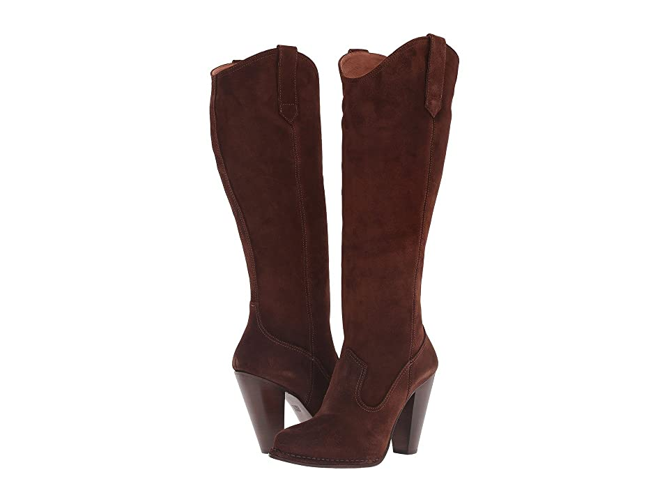 Frye Madeline Tall (Brown Oiled Suede) Women