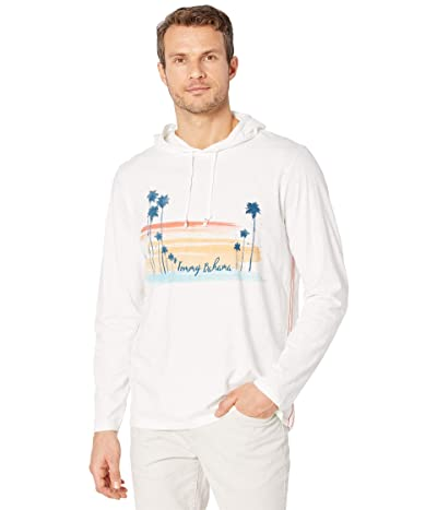 Tommy Bahama Sunset Palms Lux Hoodie (White) Men