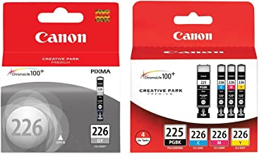 Canon PGI-225/CLI-226 Ink Tank Combo Pack + Canon CLI-226 Gray Ink Tank