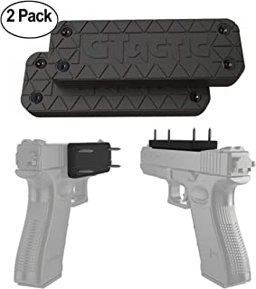 GTactic 2 Pack Magnetic Mount with Adhesive | Rubber Coated 43 Lbs Rated Magnet Mount & Holster | Concealed Holder for Firearms, On Vehicle, Wall, Desk, Bedside