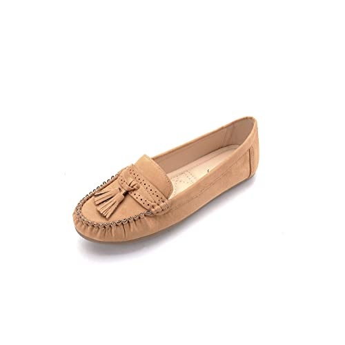 Mlia Lady Womens Casual Slip On Loafer Moccasins Flats Driving & Walking Shoes