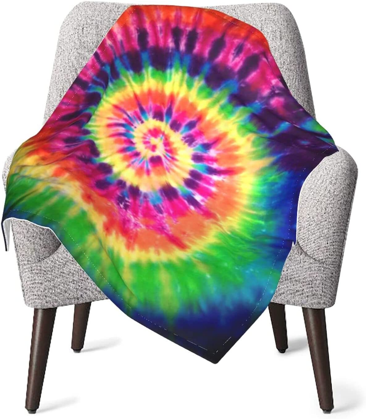 JZDACH Superior Unisex Baby 67% OFF of fixed price Receiving Tie Inf Blankets Peace Dye Rainbow