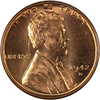 1942 D 1c Lincoln Wheat Cent Penny US Coin Uncirculated Mint State