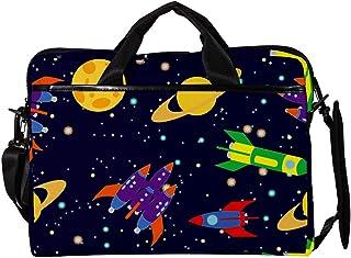 engshizilvbaihuo Unisex Laptop-Tasche, leicht, Segeltuch-Reisetasche, 33,4�,7 cm mit Schnallen, Meeresmuscheln, Orange