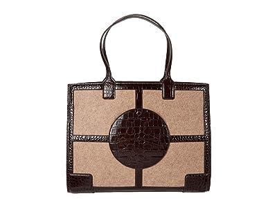 Tory Burch Ella Felt Quadrant Tote (Fawn) Handbags
