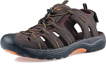 صنادل GRITION رجالي مغلقة عند أصابع القدم أحذية رياضية مضادة للماء رياضية مريحة للمشي على الشاطئ والصياد الصيف