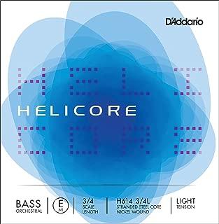 D'Addario Helicore Orchestral Bass Single E String, 3/4 Scale, Light Tension