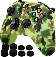 Pandaren Silicone rubber cover skin case anti-slip Water Transfer Customize Camouflage for Xbox One/S/X controller x 1 Yel...