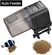 Focuspet Alimentador Automático Acuario,175ml Multifuncional Comedero Peces Automático con Pantalla LCD y el Tiempo de Alimentación Configuración, Adecuado para Acuario, Pecera
