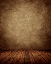 Portrait Brown Photo Backdrop Background Headshot Abstract Master Background with Wood Floor for Photography Studio Photo Booth Photographer(5x7FT) 015