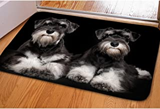 INSTANTARTS Schnauzer Dog Welcome Doomat Entrance Way Home Decor Carpet Indoor/Outdoor Flannel Mat