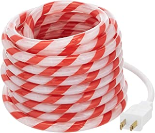 AmazonBasics 180 LED Candy Cane Striped Rope Light, 20-Foot