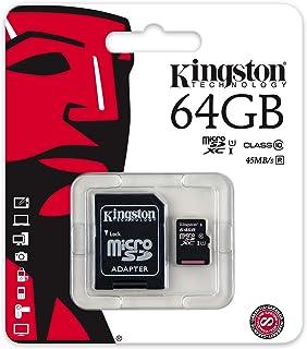 كينجستون بطاقة ذاكرة متوافقة مع هواتف خلوية - بطاقات مايكرو اس دي - 64 جيجابايت (SDC10G2/64GB