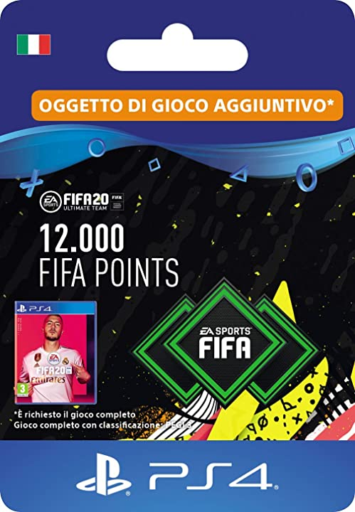 fifa 20 ultimate team - 12000 fifa points dlc - codice download per ps4 - account italiano scee-xx-s0045663