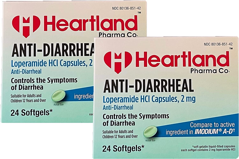 Heartland Pharma Co Anti-Diarrheal Softgels mg Regular Outlet SALE discount Loperamide 2 Bli