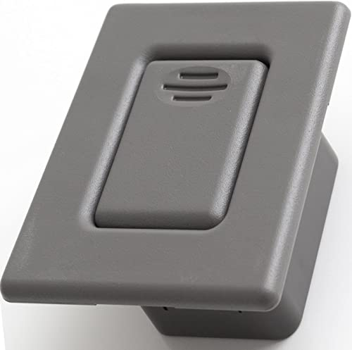 popular Back Seat Latch new arrival Release Handle - 2021 Best for Folding Rear Row Bucket Fits 00-06 Silverado, Tahoe, Avalanche, Suburban, Sierra, Yukon, Escalade - Replaces GM 12477414 Button Lock Cover Accessories, Gray sale