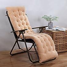 NqceKsrdfzn Ligstoel Kussens, Sundlight Patio Chaise Lounger Kussen Omkeerbare Niet slip Hoge Rug Tuin fauteuil Gewatteerd...