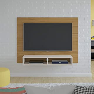 Artely Flash Wall Panel for 42 inch TV, Freijó Brown with Off White, W 120 cm x D 28 cm x H 89.5 cm