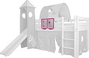 XXL Discount Sac de Jeu pour lit d'enfant 100% Coton avec Housse de Rangement pour lit d'enfant Rose/Licorne 55 x 40 cm