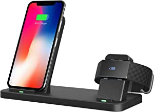 Tensea Compatible with Fitbit Charge 3 Charger, 2 in 1 Fast Qi Phone Wireless Charging Stand and Charging Dock Compatible for Fitbit Charge 3