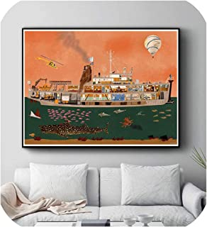Posters and Prints Wall Art Decorative Picture Canvas Painting for Living Room Home Decor Unframed,50x75CM No Frame,1