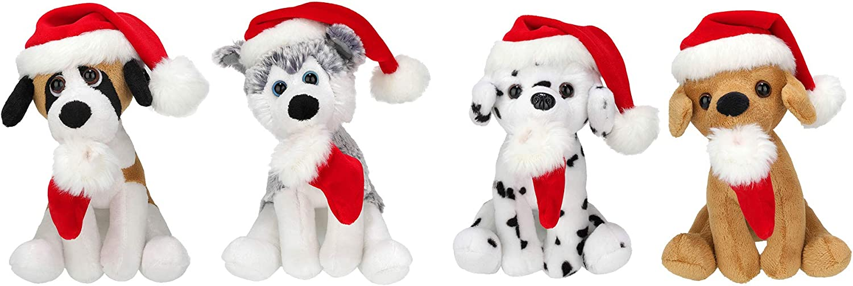 Plushland Xmas Pawpal with Santa Fashion 67% OFF of fixed price Animals Puppe Plush Hat Stuffed