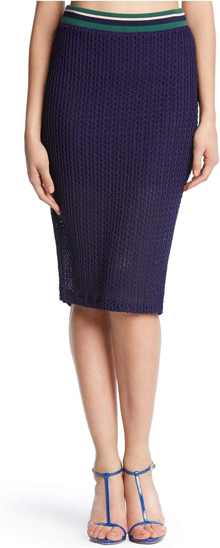 Kiind Of Navy Knit Midi Skirt M