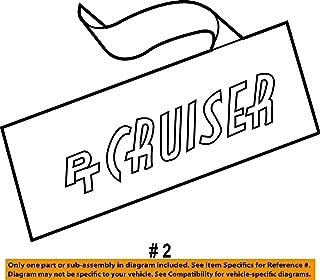 Chrysler PT Cruiser 01-10 Chrome PT Nameplate,OEM Mopar