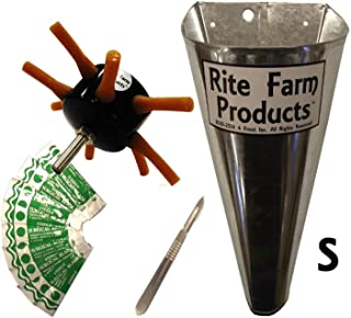 S8 RITE FARM DRILL CHICKEN PLUCKER KIT SMALL KILL CONE 10 BLADES & SCALPEL POULTRY