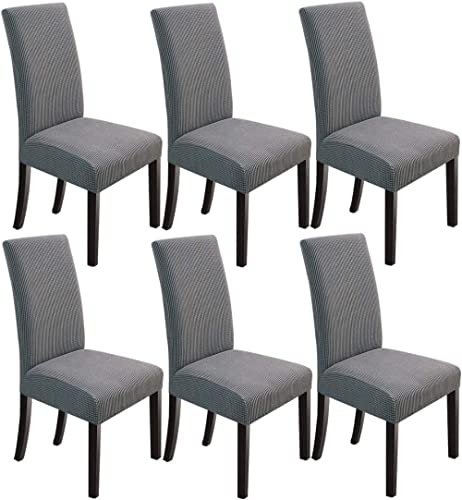 NORTHERN BROTHERS Dining Chair Covers Stretch Chair Covers Parsons Chair Slipcover Chair Covers for Dining Room Set o...