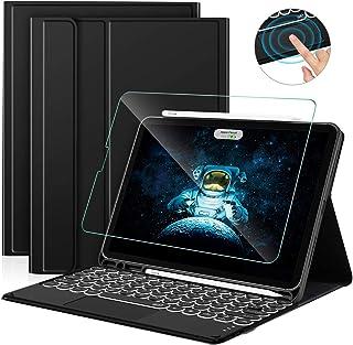 Sross Funda con Teclado para iPad Air 4a Generación 10.9 Pulgada 2020, Español Ñ iPad Air 4 Teclado con Touchpad &Protector de Pantalla, Negro