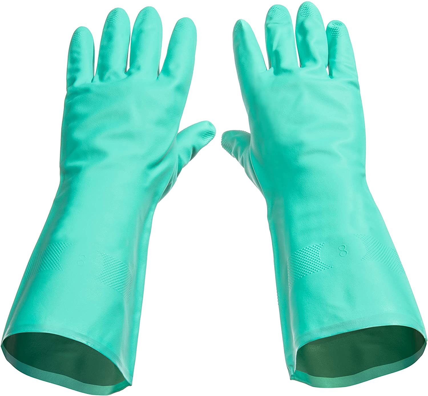 Tusko Products Best Nitrile Rubber Cleaning, Household, Dishwashing Gloves, Latex Free, Vinyl Free, Reusable not Disposable, Large L (1 Pair) : Health & Household