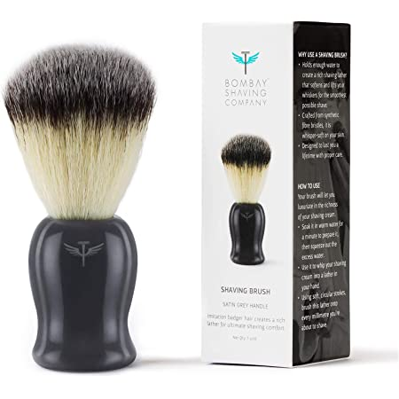 Bombay Shaving Company Imitation Badger Shaving Brush, Cruelty-Free Bristles