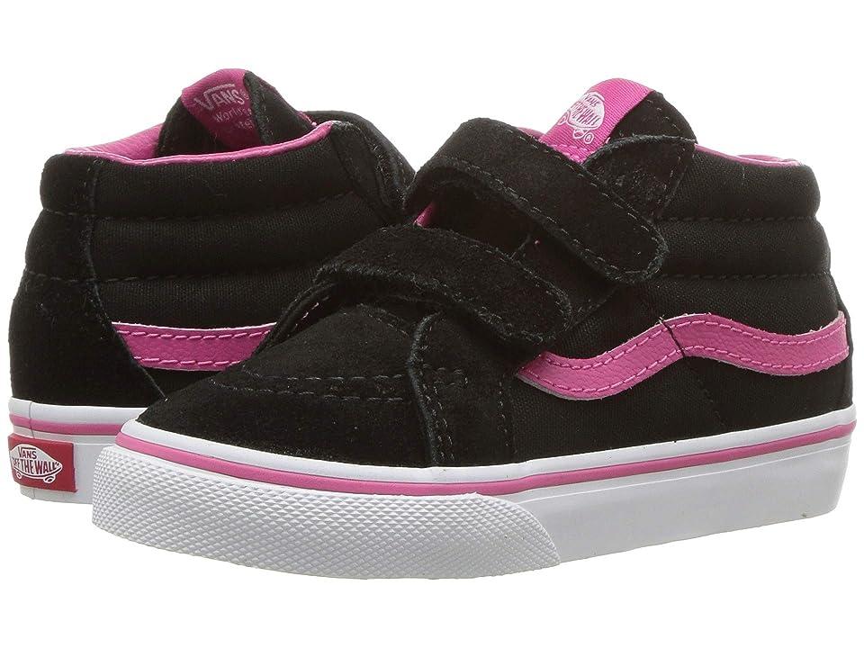 Vans Kids Sk8-Mid Reissue V (Infant/Toddler) ((Pop) Magenta/Black) Girls Shoes