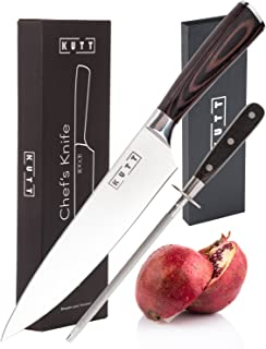 Kutt 8 Inch Chef Knife | Stainless Steel Cooking Knife with Razor Sharp Blade and Rust-Free Finish