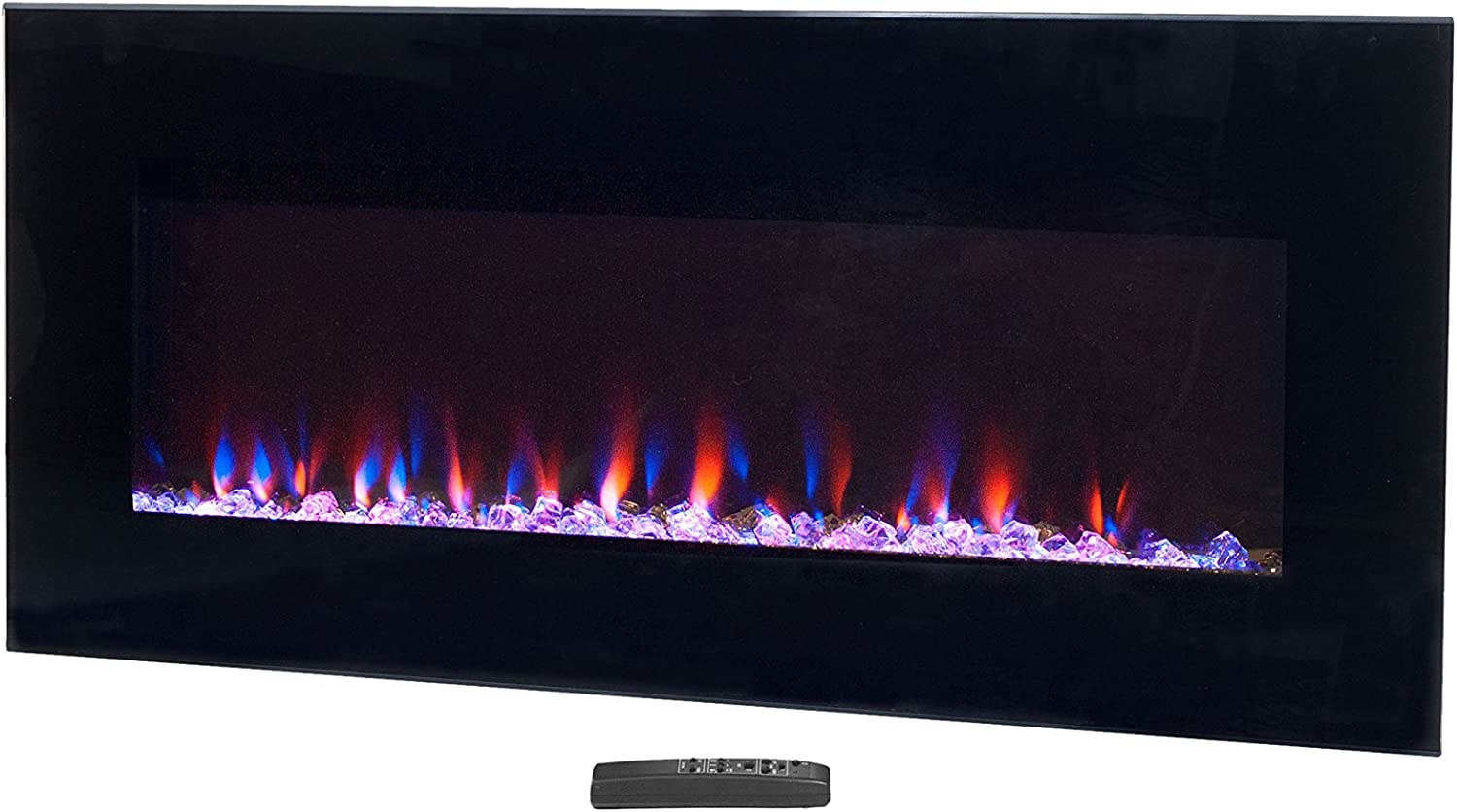Northwest Black Max 47% New arrival OFF Electric Fireplace-Wall Mounted with Fire LED a