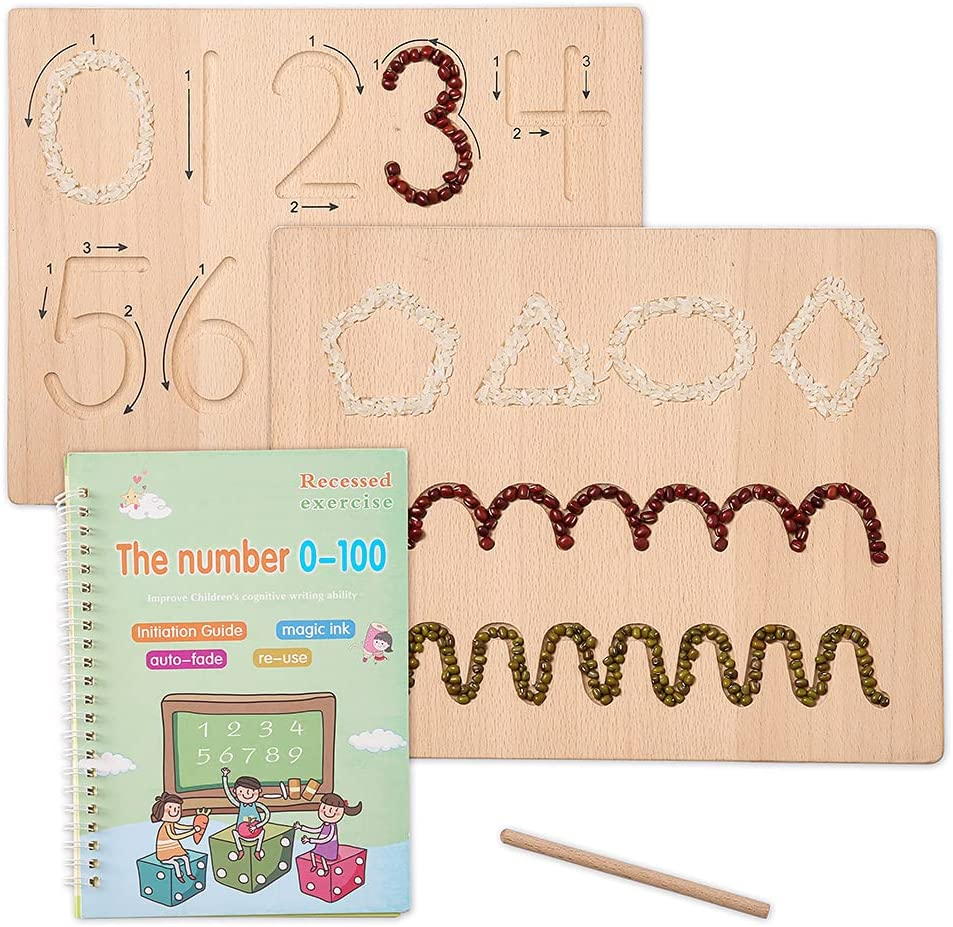 Max 62% OFF Nepixok Wooden Number Limited time for free shipping Tracing Montessori Numbers - Borad
