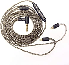 RevoNext Detachable Cable,QT2/QT2S/QT3S/QT5/RX8/RX8S Dedicated Cable 0.78mm 2-Pin Upgraded Cable Braided Cable With MIC