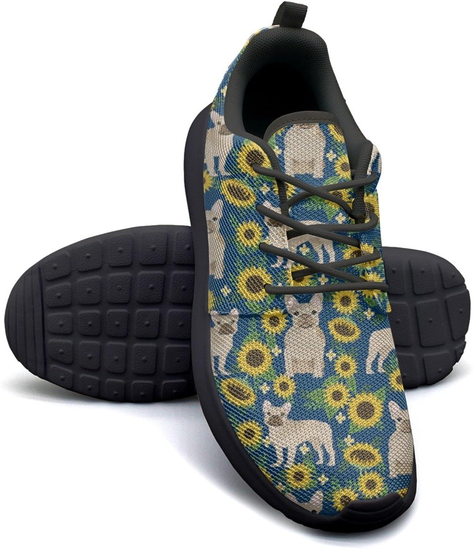 ERSER French Bulldog Sunflowers Pattern Cool Running shoes Women