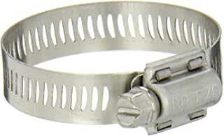 """Breeze Power-Seal Stainless Steel Hose Clamp, Worm-Drive, SAE Size 28, 1-5/16"""" to 2-1/4"""" Diameter Range, 1/2"""" Bandwidth (Pack of 10)"""