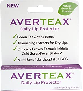 AverTeaX Daily Lip Protector, Nourishing Extract for Dry Lips, and Clinically Proven Formula Inhibits Cold Sores/Fever Blisters